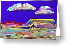 Yellow Mesa Greeting Card