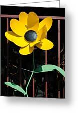 Yellow Metal Garden Flower Greeting Card