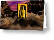 Yellow Monolith-large Greeting Card