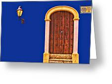 Door And Lamp Greeting Card