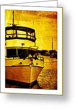 Yellow On The Water Greeting Card
