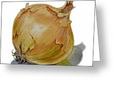 Yellow Onion Greeting Card