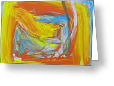 Yellow -orange  Window. Greeting Card