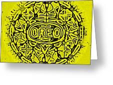 Yellow Oreo Greeting Card