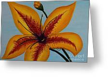Yellow Oriental Lily Greeting Card