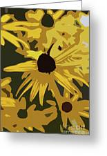 Yellow Paper Flower Greeting Card