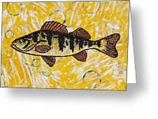 Yellow Perch Greeting Card