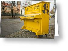 Yellow Piano Beethoven Greeting Card