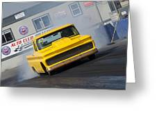 Yellow Pick Up Truck Greeting Card
