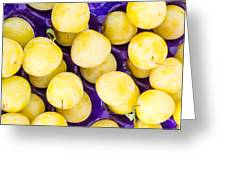 Yellow Plums Greeting Card