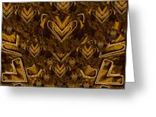 Yellow Pop Art Hearts Greeting Card