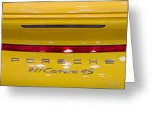 yellow Porsche Greeting Card