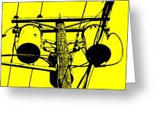 Yellow Power Greeting Card