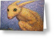 Yellow Rabbit Greeting Card