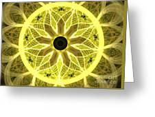Yellow Rays Greeting Card