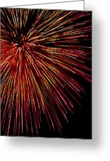 Yellow Red Firework Explosion Greeting Card