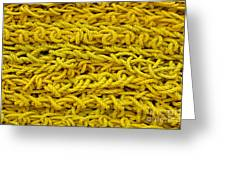 Yellow Rope Stack Greeting Card