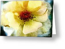 Yellow Rose Painted Greeting Card