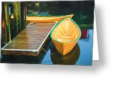 Yellow Rowboats Greeting Card