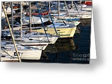 Yellow Sailboat At Marseille Greeting Card by John Rizzuto