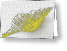 Yellow Seashell Greeting Card