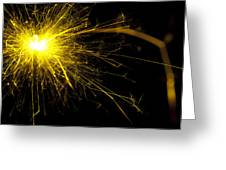 Yellow Sparkle Greeting Card