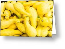 Yellow Squash At The Market Greeting Card