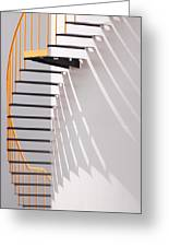 Yellow Staircase Greeting Card