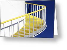 Yellow Steps 2 Greeting Card
