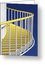 Yellow Steps On Tank Greeting Card