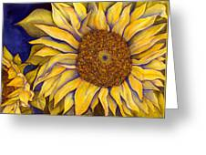 Yellow Sunflower Greeting Card by Diane Ferron