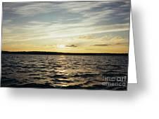Yellow Sunrise In Manhassett Bay Greeting Card