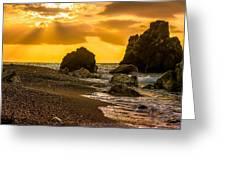 Yellow Sunset Greeting Card