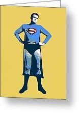 Yellow Superman Greeting Card