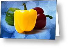 Yellow Sweet Pepper - Square - Textured Greeting Card