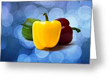 Yellow Sweet Pepper - Textured Greeting Card