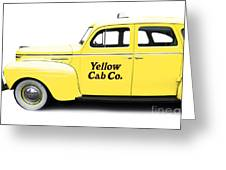 Yellow Taxi Cab Greeting Card
