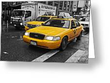 Yellow Taxi Color Pop Greeting Card