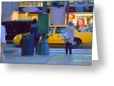 Yellow Taxi Greeting Card