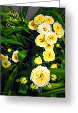 Yellow Tea Rose  Happy Mother's Day Greeting Card