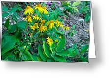 Yellow Tilt Greeting Card