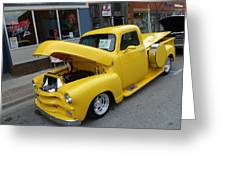 Yellow Truck Greeting Card