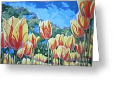 Yellow Tulips Greeting Card by Andrei Attila Mezei
