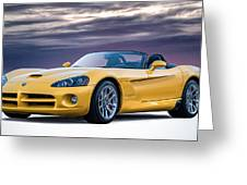 Yellow Viper Convertible Greeting Card