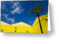 Yellow Warehouse Greeting Card