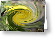 Yellow Whirlpool Greeting Card
