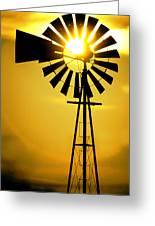 Yellow Wind Greeting Card