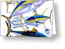 Yellowfin Run Greeting Card
