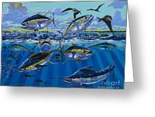 Yellowfin Run Off002 Greeting Card by Carey Chen