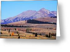Yellowstone Electric Mountain Greeting Card